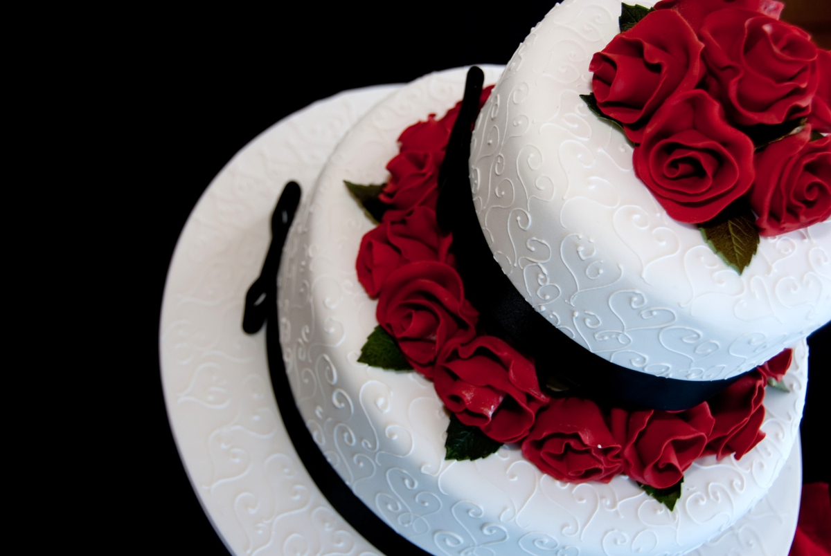 Romantische Hochzeitstorte Wir Sagen Ja