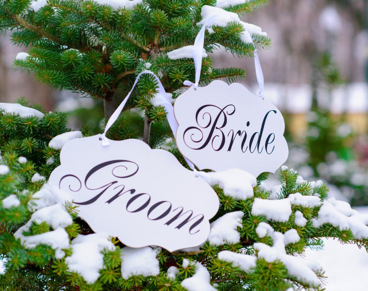 Die Winter Hochzeit bietet viel Raum für Dekorationsideen - Wir ...